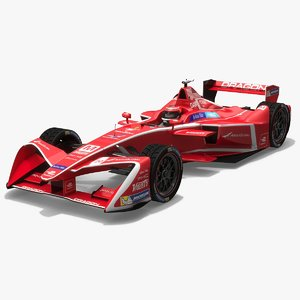 3D dragon racing formula e model