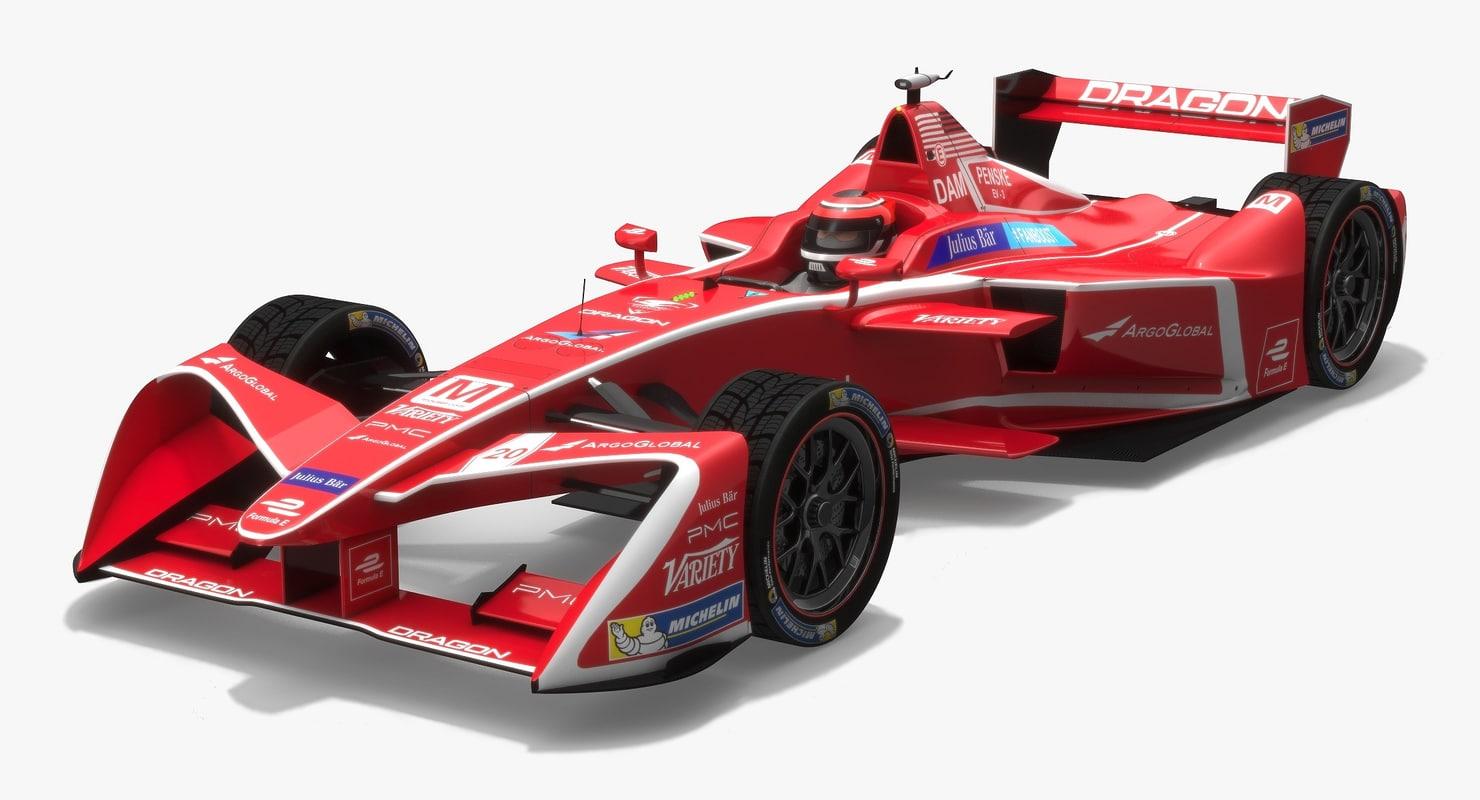 3D dragon racing formula e model