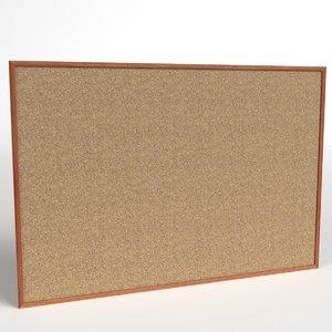 corkboard plate 3D model