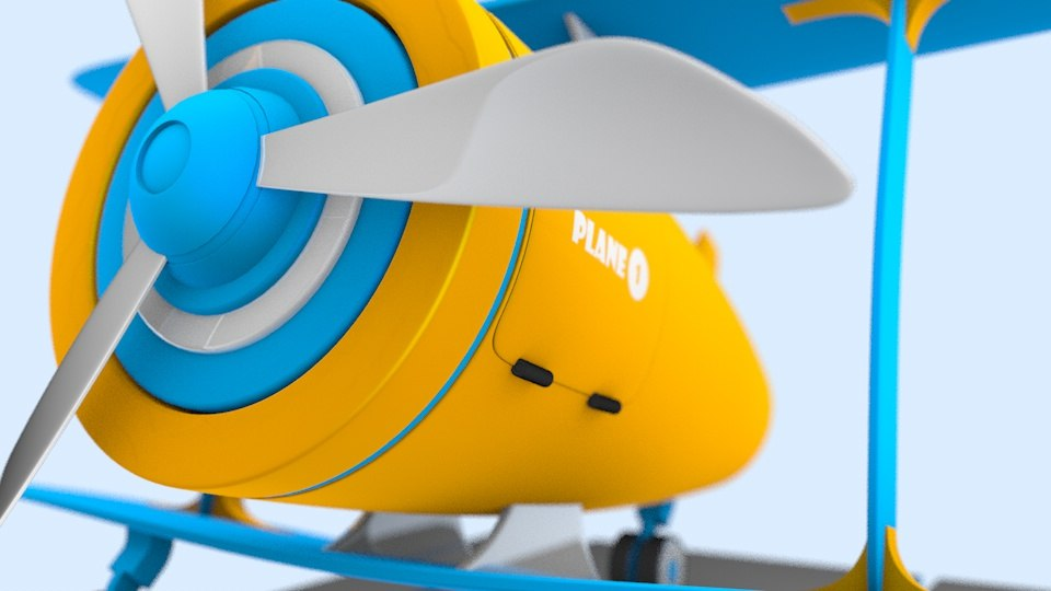 3D toy airplane model