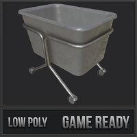 laundry cart pbr 3D