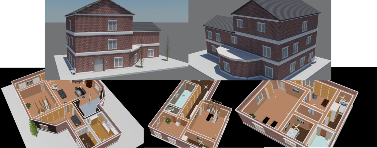 furnish stories house 3 3D model