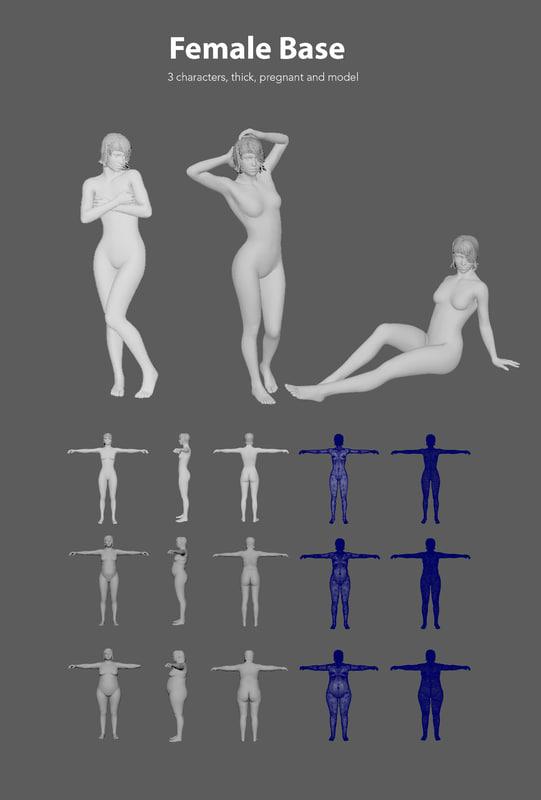 3D base woman