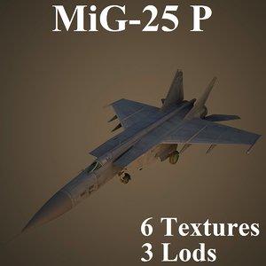 3D mikoyan interceptor recon model