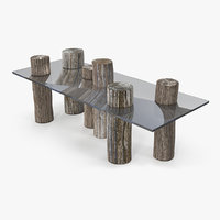 wood log table model