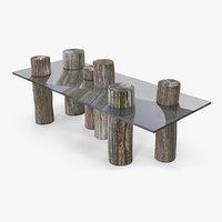 wood log table model