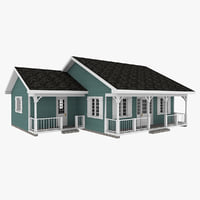 3D american small house