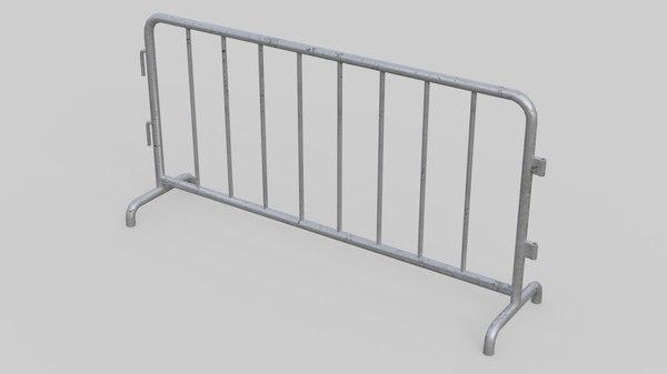 road safety barrier 1 3D