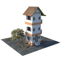 building scene 3D model