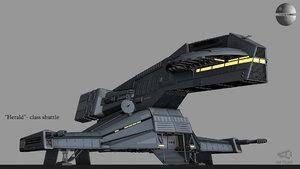 herald class shuttle 3D
