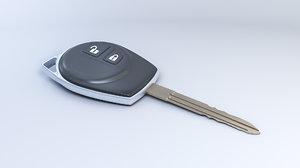 3D car key remote