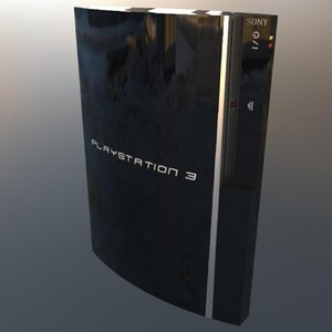 3D sony playstation 3 fat model