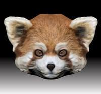 3D red panda head