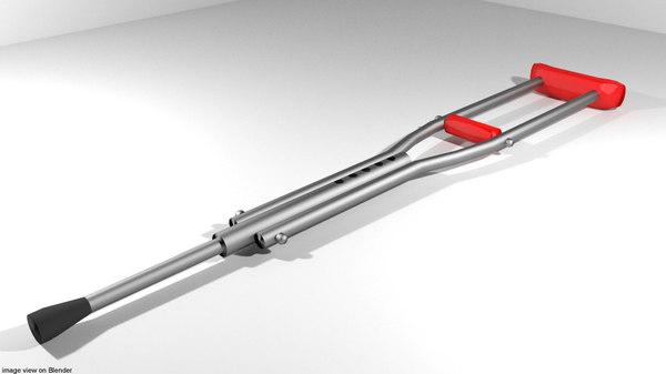 3D aids crutch underarm