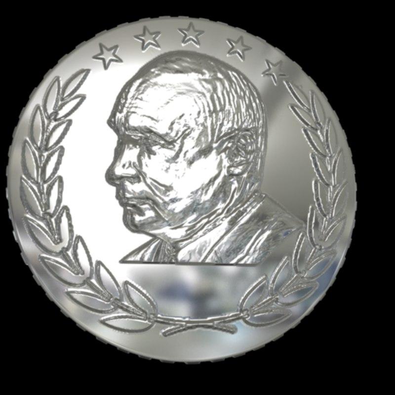3D coin putin design