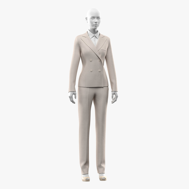 3D model realistic woman suit mannequin