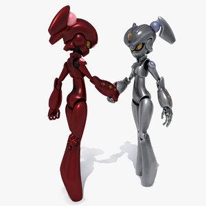 3D rig robot alexa model