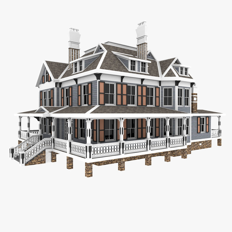 american traditional old house 3D model