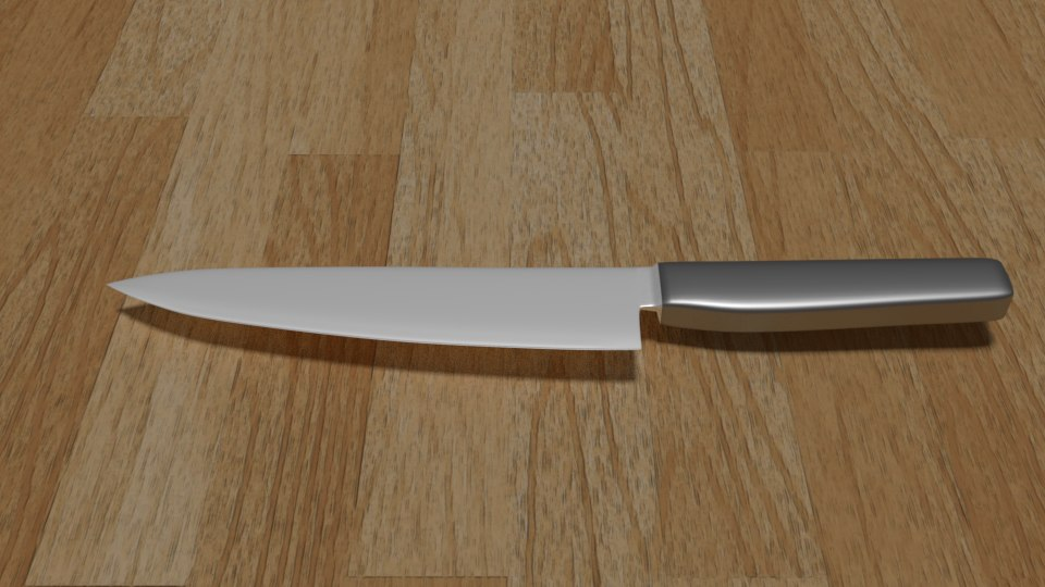 realistic kitchen knife model