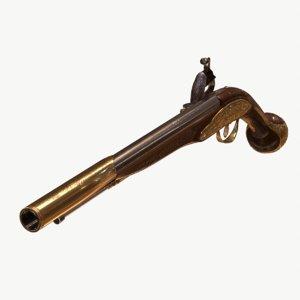 pistol metallic 3D model