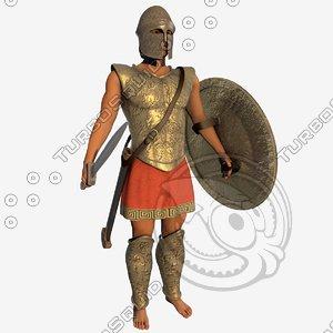 3D warrior ancient model