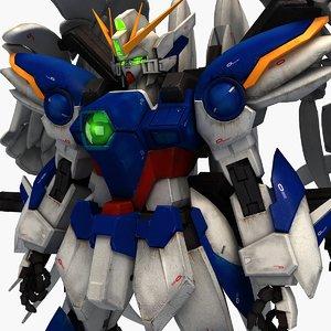 xxxg-00w0 wind gundam zero model