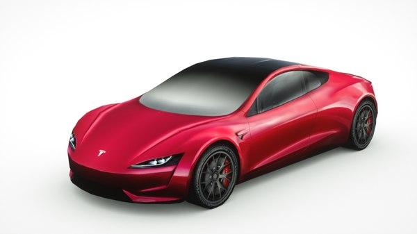 3D 2020 tesla roadster 2 model