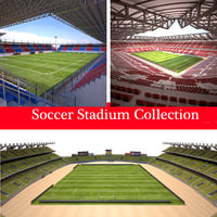 3D model ready stadium soccer