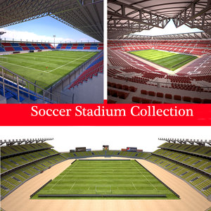 3D model ready stadium soccer