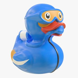 realistic rubber duck 06 3D model