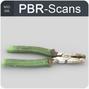 pliers scan pbr model