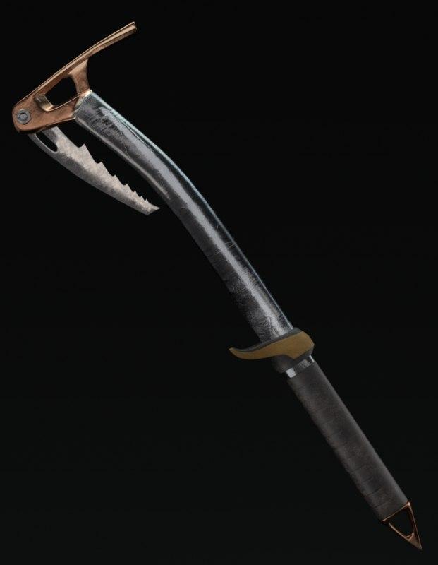 3D ice axe hammer new