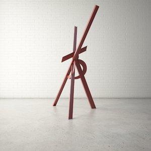 3D public sculpture model