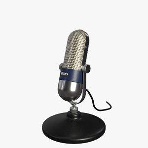 3D model microphone vintage mic