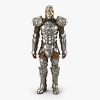 medieval armor lion 3D model
