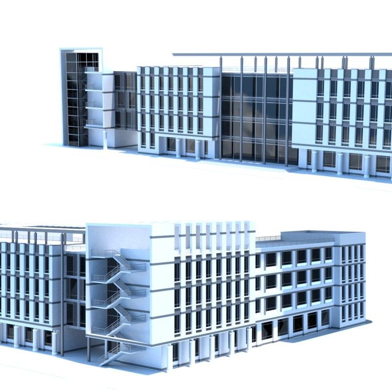 shopping mall 3D model