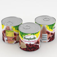 3D bonduelle red bean