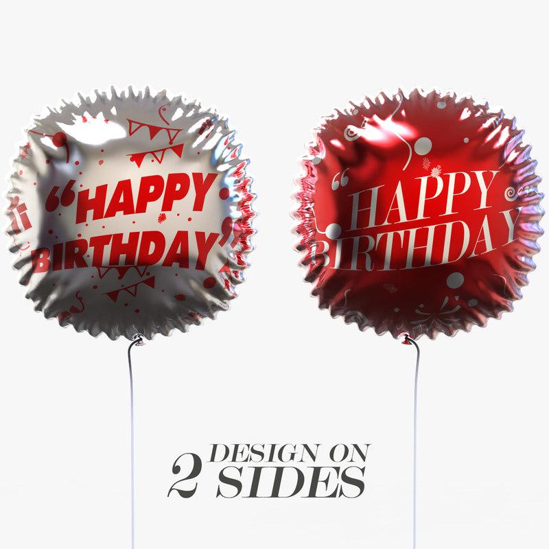 3D model helium balloon events