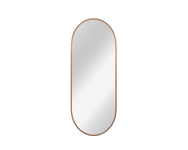 capsule shape wall mirror 3D model