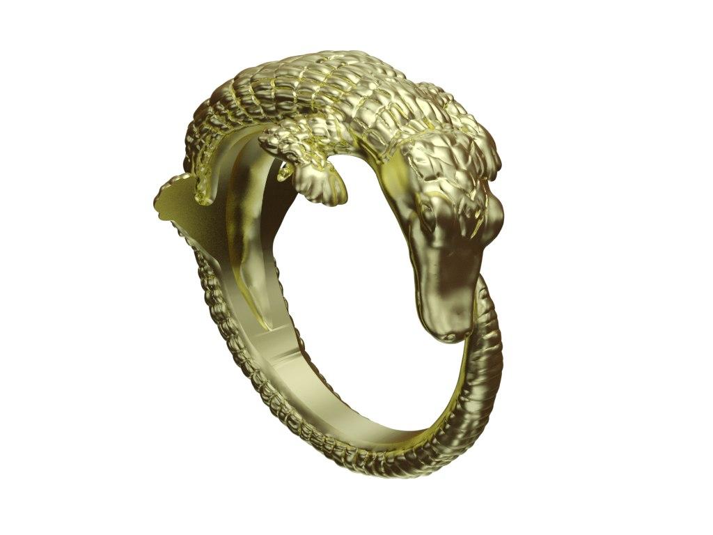 crocodile ring 3D