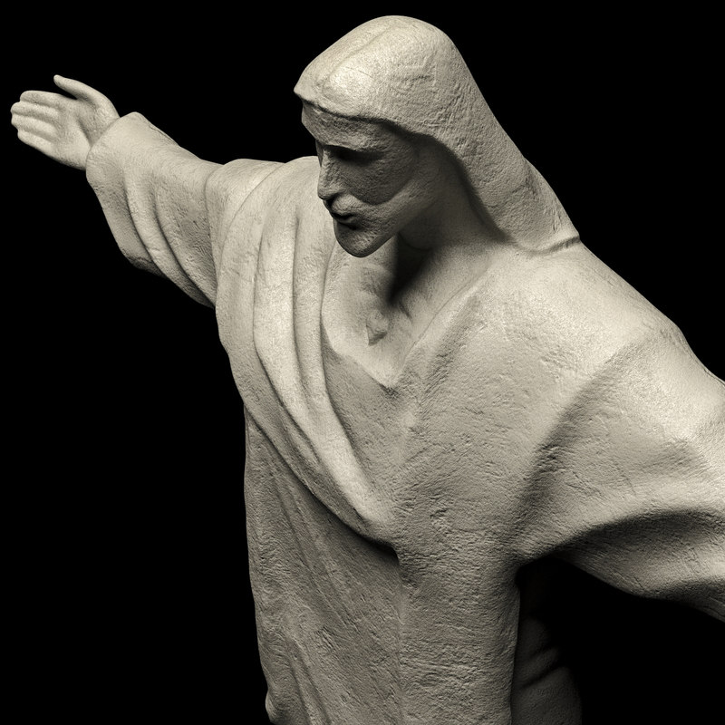 3D christ redeemer jesus