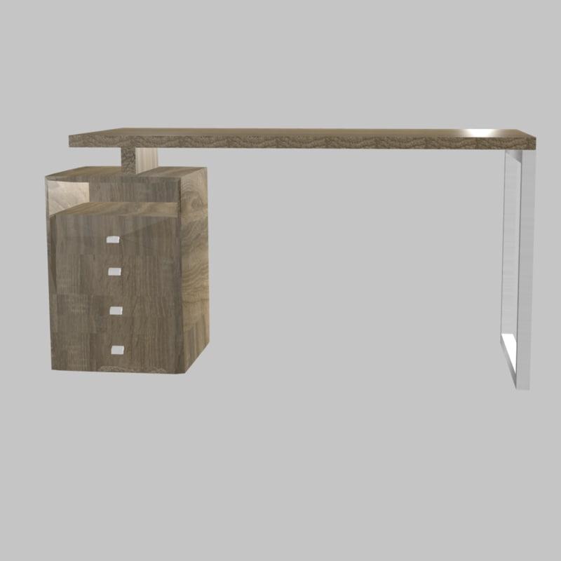desk blender 3D model