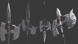 halberd weapon model