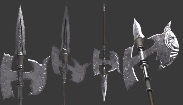 halberd weapon model