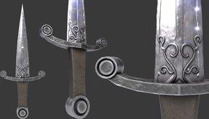 dagger medieval 3D model