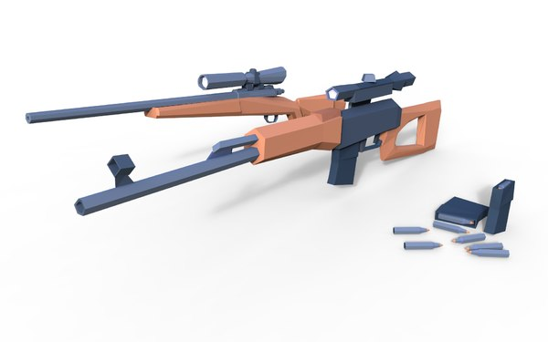dragunov sniper rifle 3D