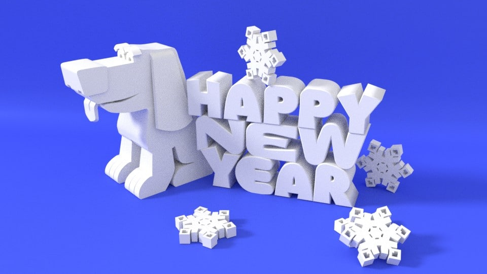 happy new year 3D model