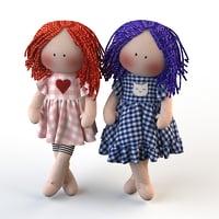 dolls textile 3D