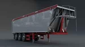 3D semitrailer trailer