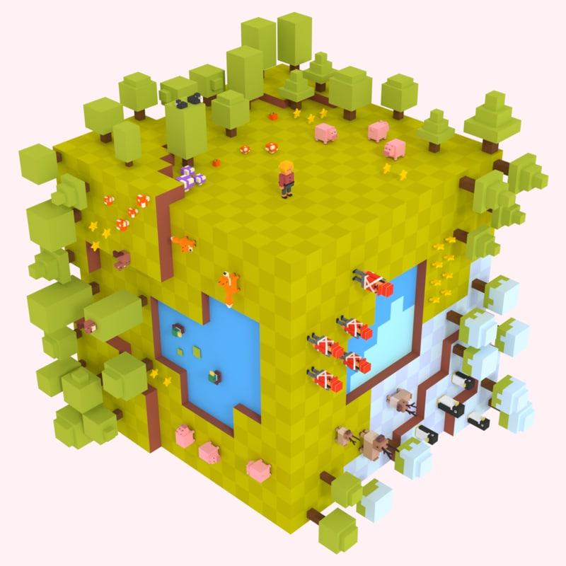 cube pack adventure model